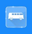 flat style retro minivan car silhouette icon vector image vector image