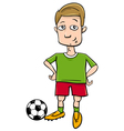 football player character cartoon vector image vector image