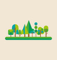 forest in flat style vector image vector image
