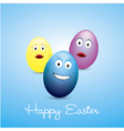 Funny eggs vector image