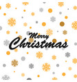 gold glittering snowflakes and merry christmas vector image vector image