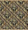 greek vintage floral 3d seamless pattern vector image