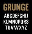 grunge alphabet 001 vector image