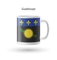 Guadeloupe flag souvenir mug on white background vector image vector image