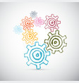 Hand Drawn Abstract Cogs - Gears vector image vector image