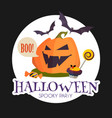 happy halloween sale design template with smilling vector image vector image