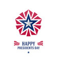 happy presidents day greeting card or poster with vector image vector image