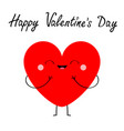 happy valentines day red heart icon cute cartoon vector image vector image