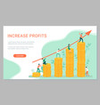 increase profits teamwork business development vector image vector image