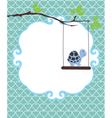 invitation card turtle vector image vector image