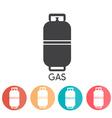 Liquid Propane Gas abd web icons vector image