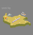 map colombia isometric concept vector image vector image