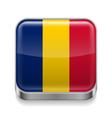 Metal icon of Chad vector image vector image