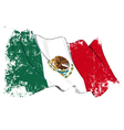 Mexico Flag Grunge vector image vector image