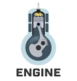 Moto engine symbol vector image