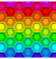 Multicilored hexagon geometric pattern vector image vector image