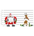 party christmas cartoon lineup vector image vector image