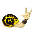 rock and roll snail vector image vector image