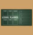 school planner on board doodle to do list chalk vector image vector image