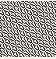 seamless black and white pattern with hexagon vector image vector image