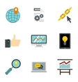 SEO promotion icons set flat style vector image vector image
