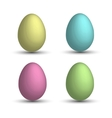 Set a realistic 3D eggs vector image
