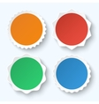 set blank stickers promotional labels vector image