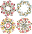 Set of floral bouquets template for wedding vector image