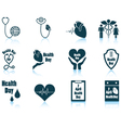 Set of Health day icons vector image vector image