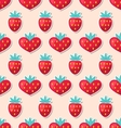 simple seamless wallpaper with hearts vector image vector image