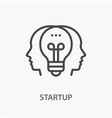 startup line icon on white background vector image