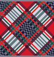 tartan seamless diagonal texture vector image vector image