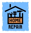 the box with tools and house vector image vector image