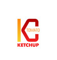 tomato ketchup sign vector image