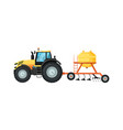 tractor with seeding machine vector image vector image