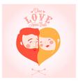Valentines day set of label badges stamp and des vector image vector image