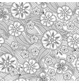 abstract hand drawn outline seamless pattern with vector image