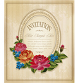 vintage frame and faded paper vector image