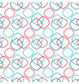red and blue rhombuses intersect on white vector image