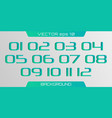 3d number template vector image vector image