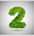 a number made by leaves vector image vector image