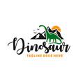 ancient animal dinosaur logo vector image