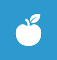 apple icon white on the blue background vector image vector image