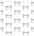 Bear stylized line fun seamless pattern for kids vector image vector image