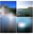 Blur landscape backgrounds Blurred vector image vector image