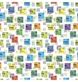 bright colorful icons of chemical elements vector image vector image