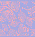 bright seamless pattern with ornamented leaves vector image