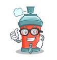 businessman aerosol spray can character cartoon vector image vector image