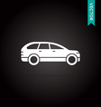 Car Icon White on Black vector image vector image