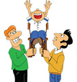 Cartoon birthday celebration vector image vector image